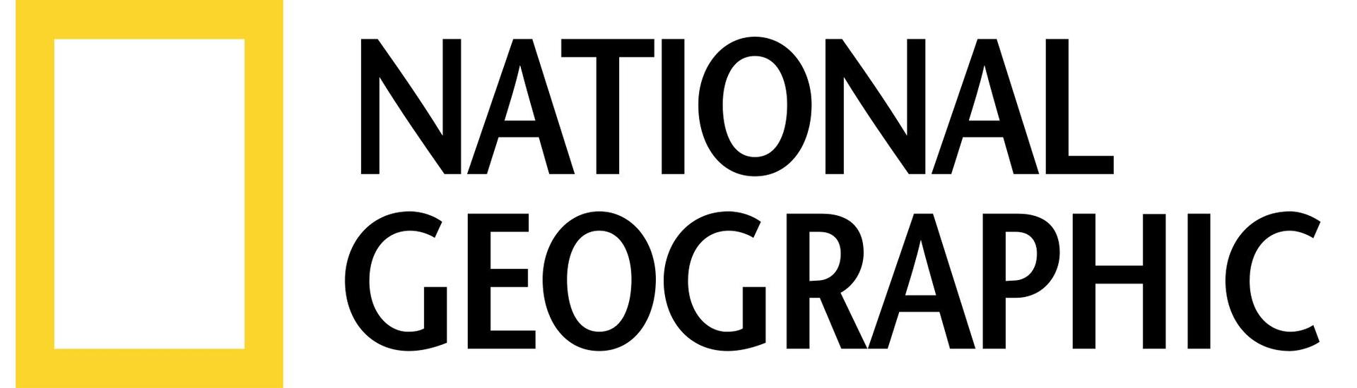National Geographic logo featuring a yellow square