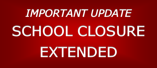 Cierre escolar extendido hasta el 4 de mayo de 2020 Featured Photo