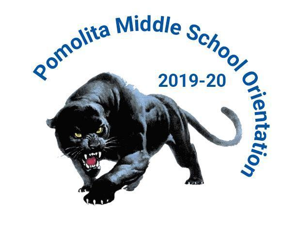 orientation schedule graphic with pomolita panther image