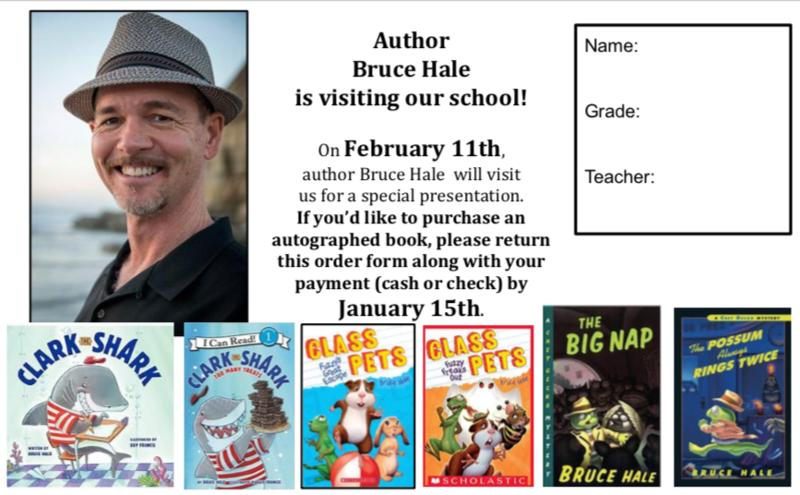 Feburary 11th Author Bruce Hale visits Norris! Thumbnail Image