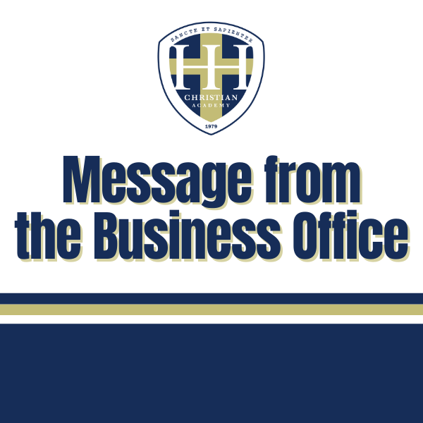 Message from the Business Office