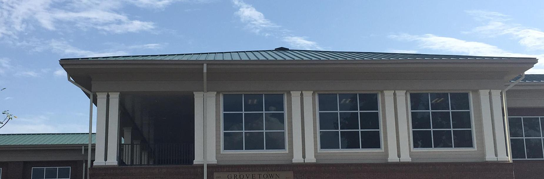 Exterior photo of Grovetown Elementary School