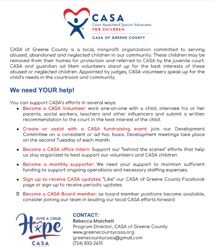 CASA Application for Volunteering Thumbnail Image