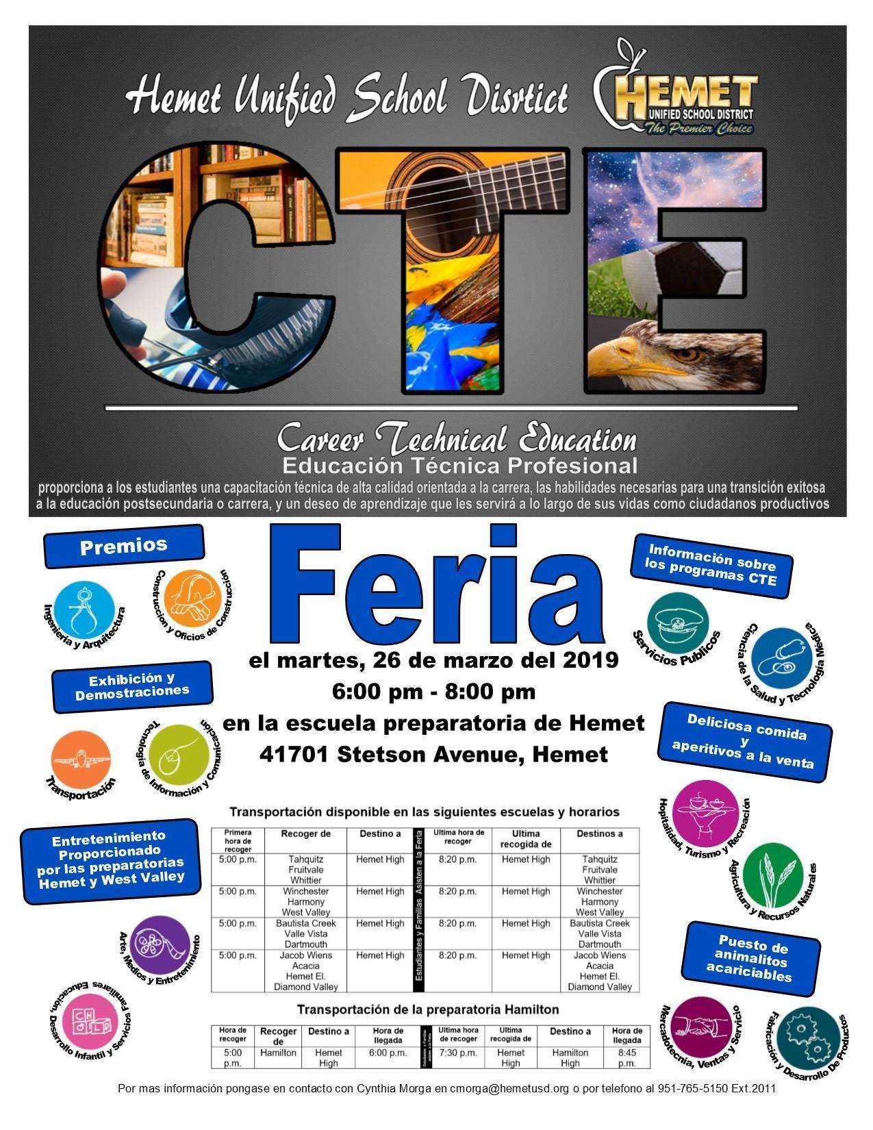 Feria de Education Tecnica Profesional del Distrito Escolar Unificado de Hemet