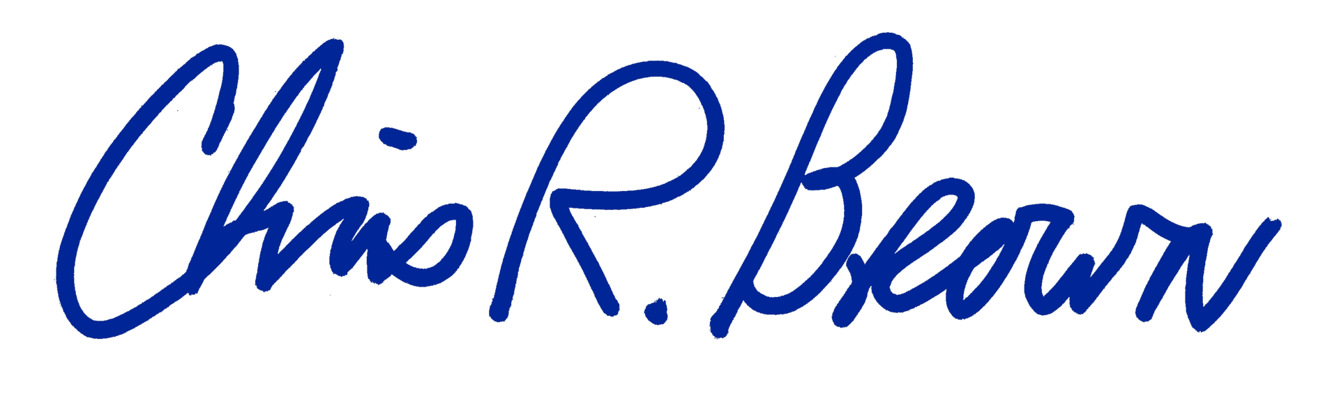 Chris Brown signature