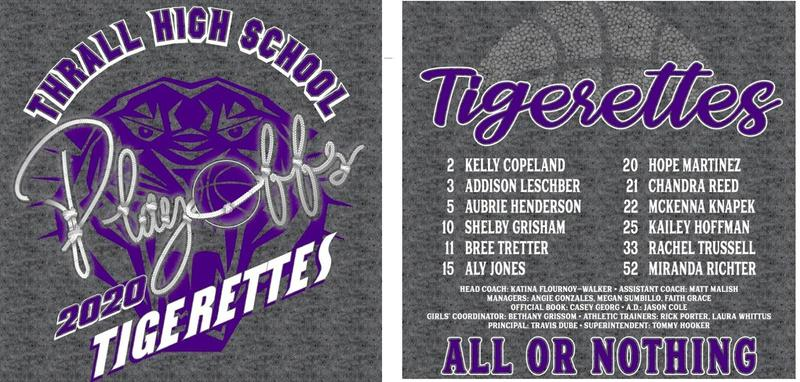 Tigerette Basketball Playoff Shirt Orders DUE Thumbnail Image
