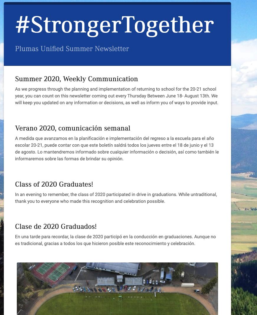 Image of 2020 Summer Newsletter