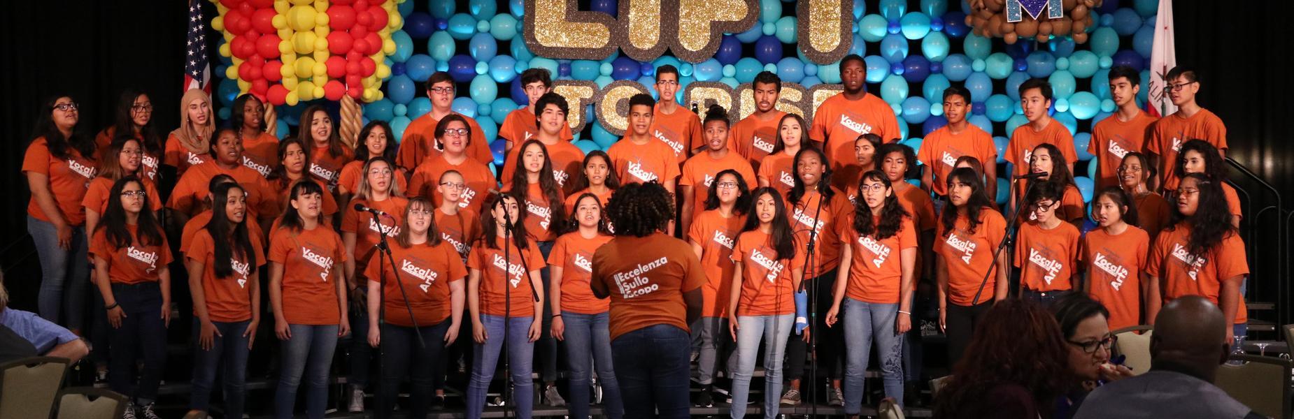 Vocal Arts Camp Performing at the 2019 Leadership Summit