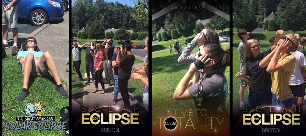 VHS Students Viewing Solar Eclipse
