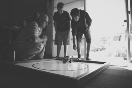 Students testing their robot.