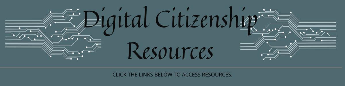 Digital Citizenship Resources graphic