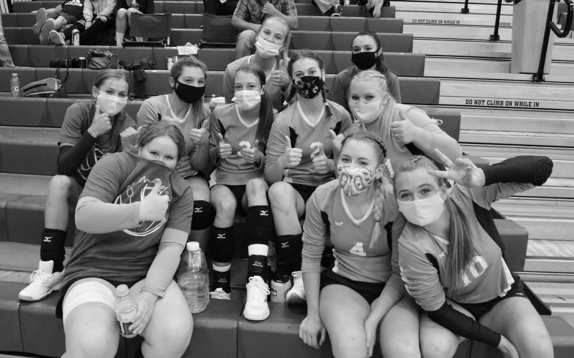 Volleyball Team with Masks