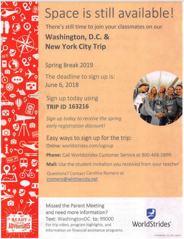 Join us for Washington, D.C. next year Featured Photo