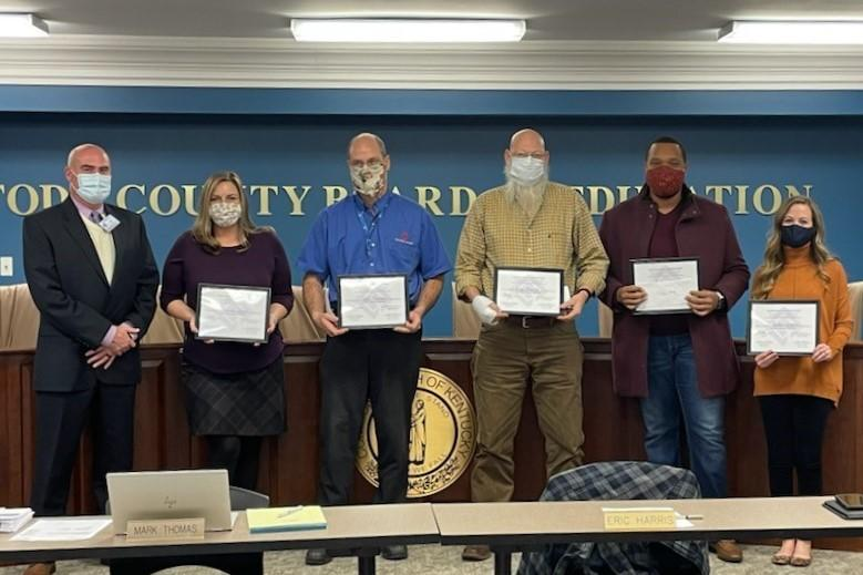 Todd County Board of Education members honored this month Featured Photo