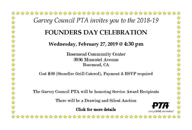 Garvey Council PTA FOUNDERS DAY CELEBRATION Thumbnail Image