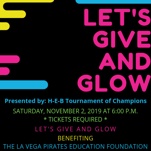 Give and Glow logo.  Event on Nov 2, tickets required