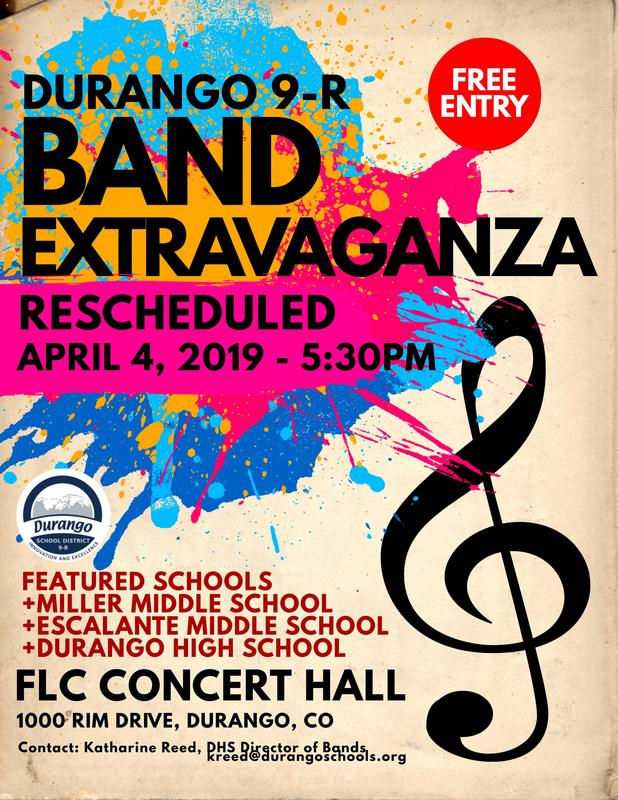 Band Extravaganza flyer