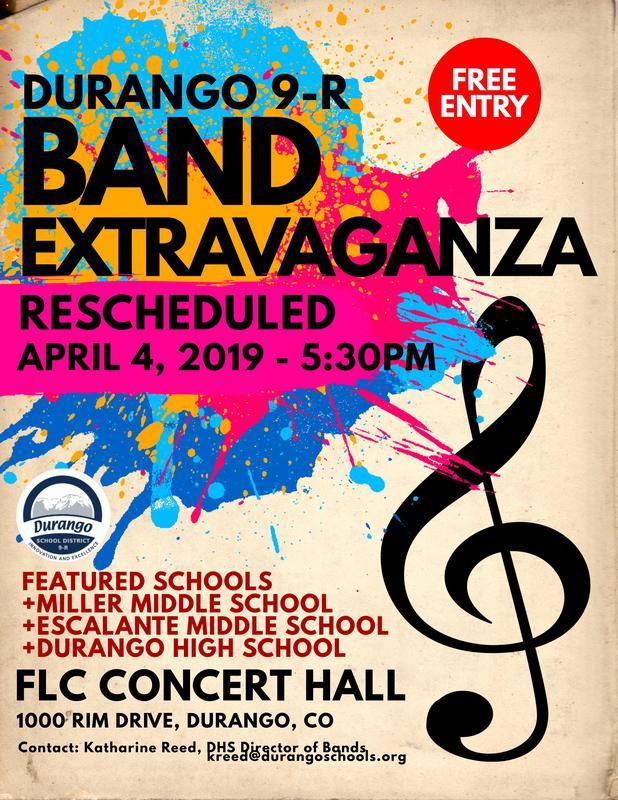 Band Extravaganza flyer