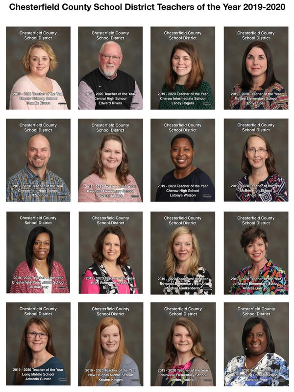 CCSD releases 2019-2020 Teachers of the Year portraits Featured Photo