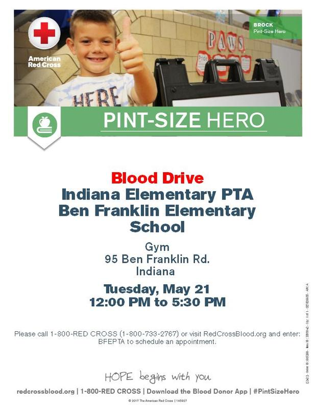Blood Drive informational flyer