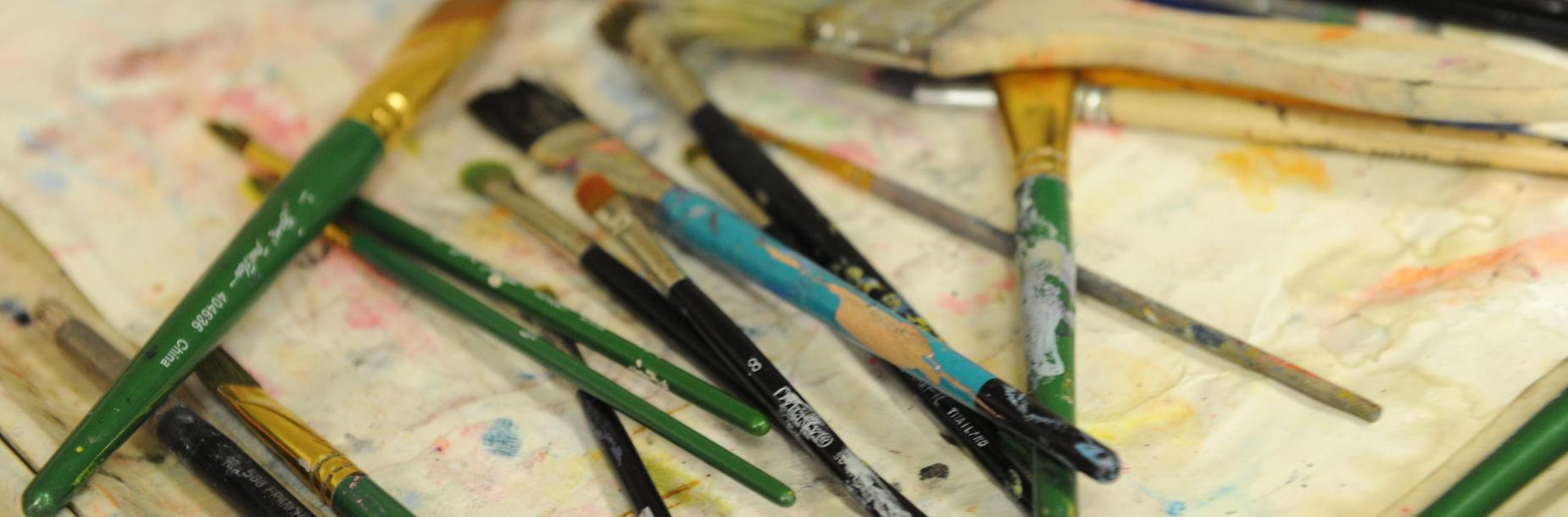 Photo of art and paint brushes