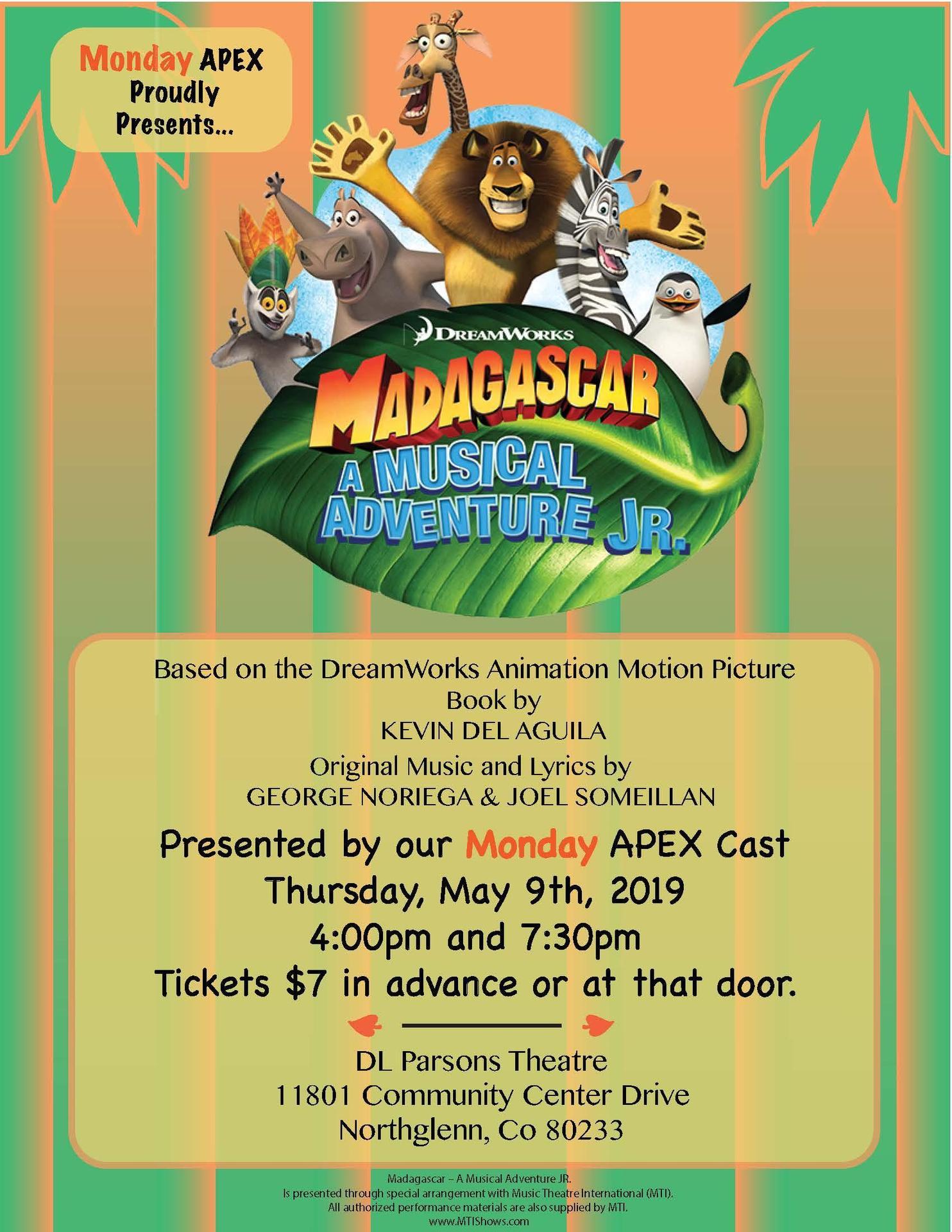 madagascar jr. poster