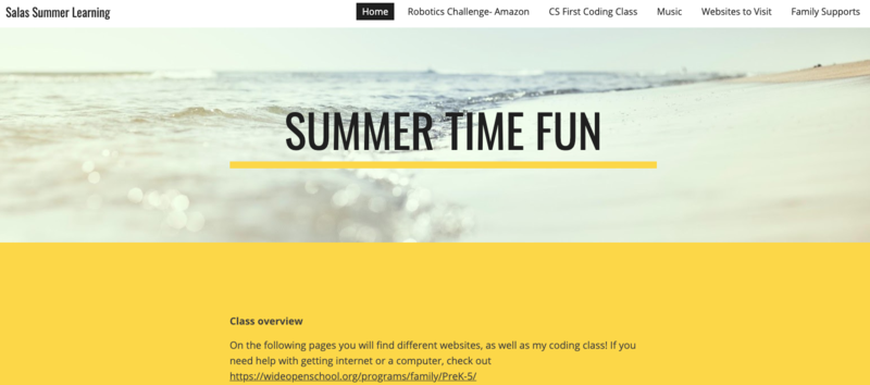 Summer Learning/Resource Page Featured Photo