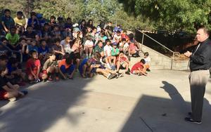 Geoff Yantz Talks with Monterey Hills Students