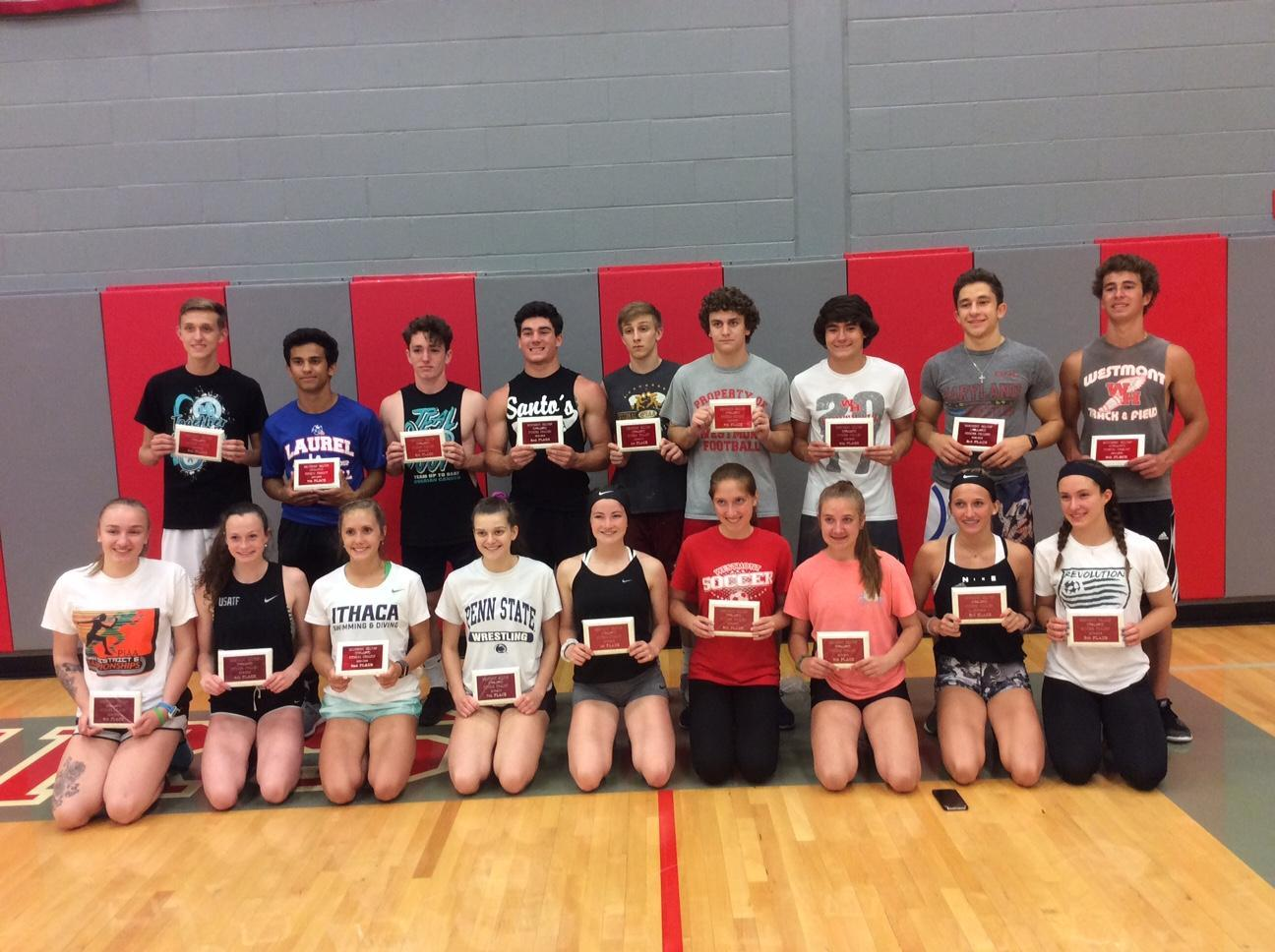 TOP 10 MALES/FEMALES IN FITNESS COMPETITION EVENT 2018-19