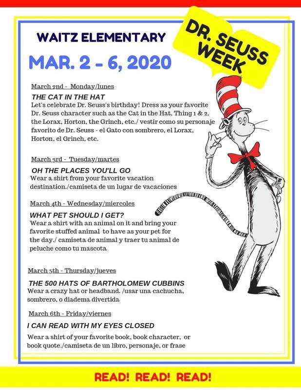 Dr. Seuss Week Activities