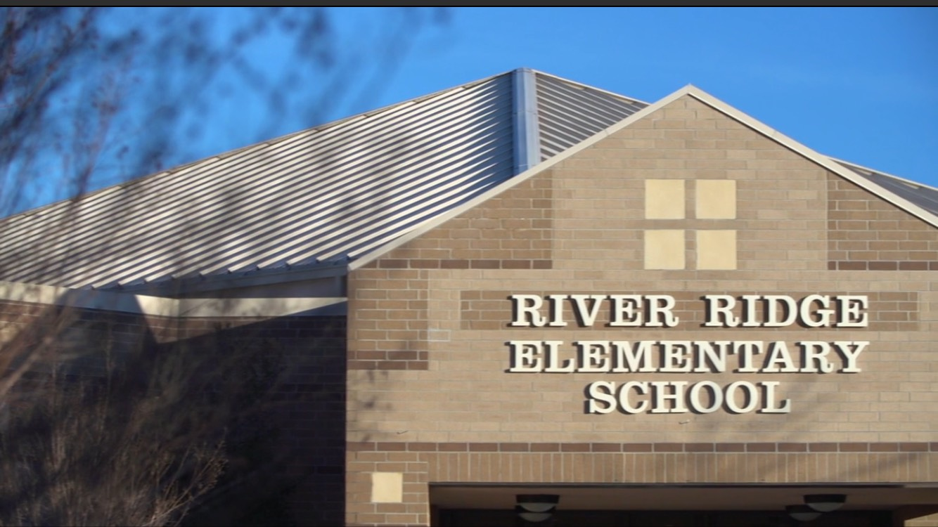 River Ridge Elementary front entrance.