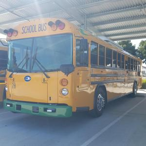 front view of new electric bus for EUSD