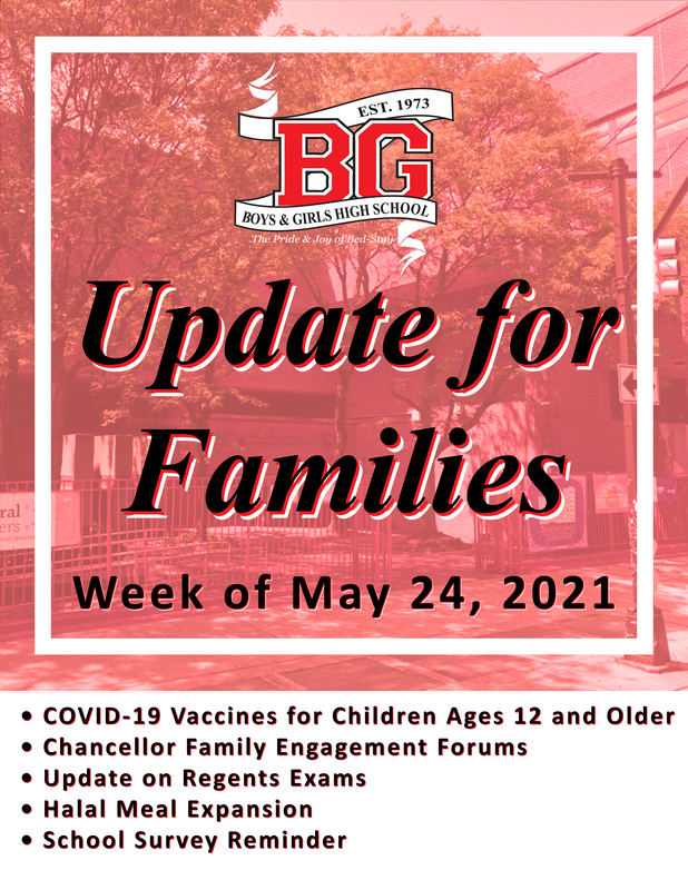 Update for Families - Week of May 24, 2021