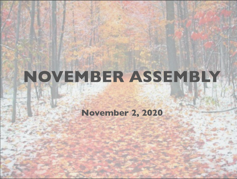 November Assembly Featured Photo