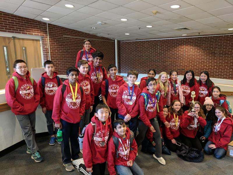 Photo of Cranbury School Science Olympiad team members.