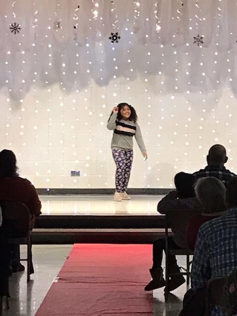 Dancer at Talent Show.