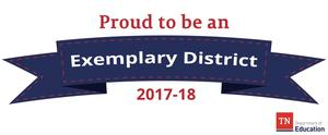 Banner saying Exemplary District