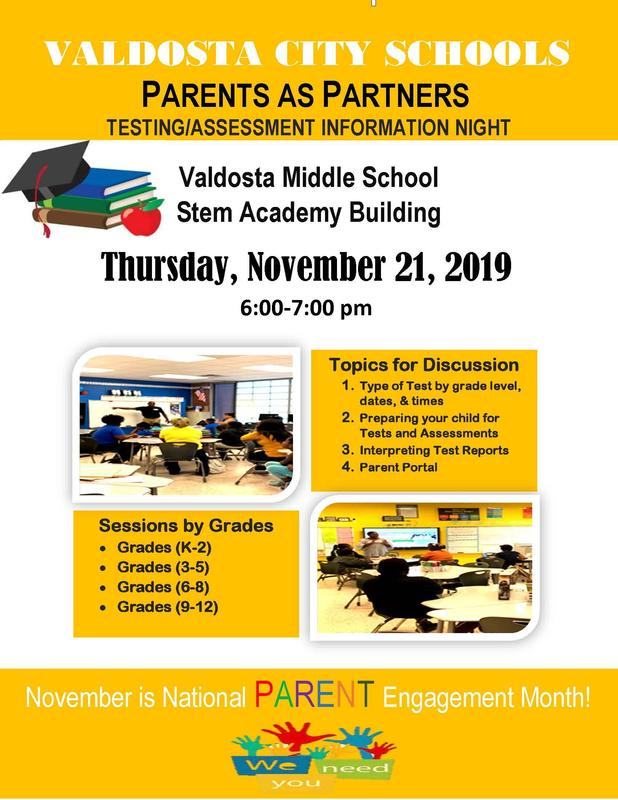 Parents as Partners - Testing/Assessment Information Night