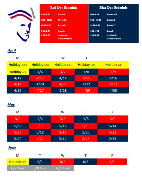 4th Quarter Red/Blue Schedule Thumbnail Image