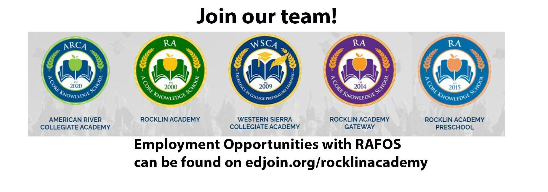 join our team at edjoin.org/rocklinacademy