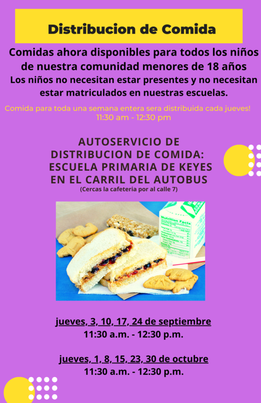 Meal Distribution Flyer Spanish