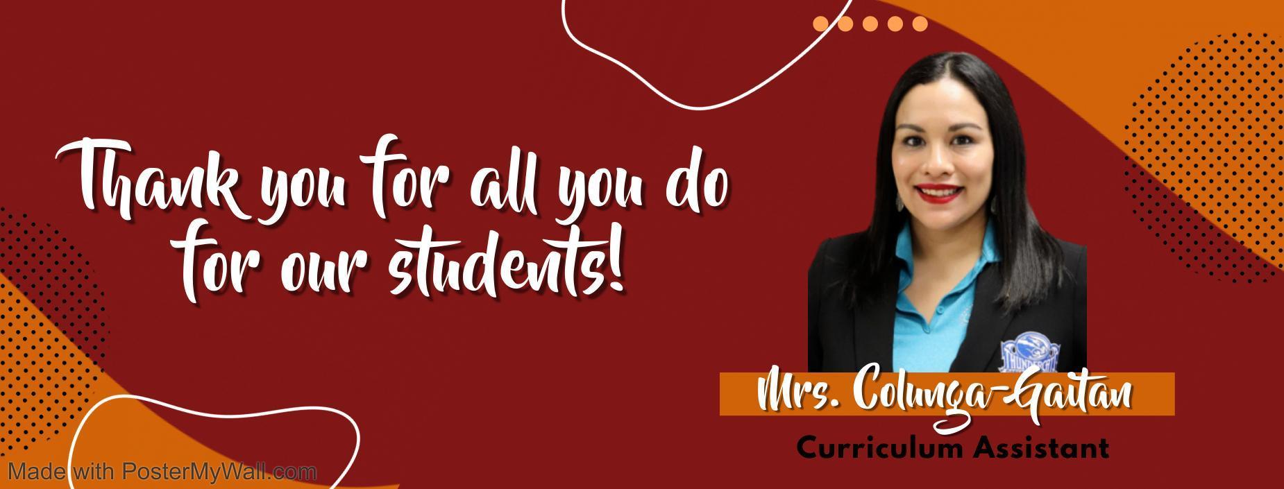picture of curriculum assistant