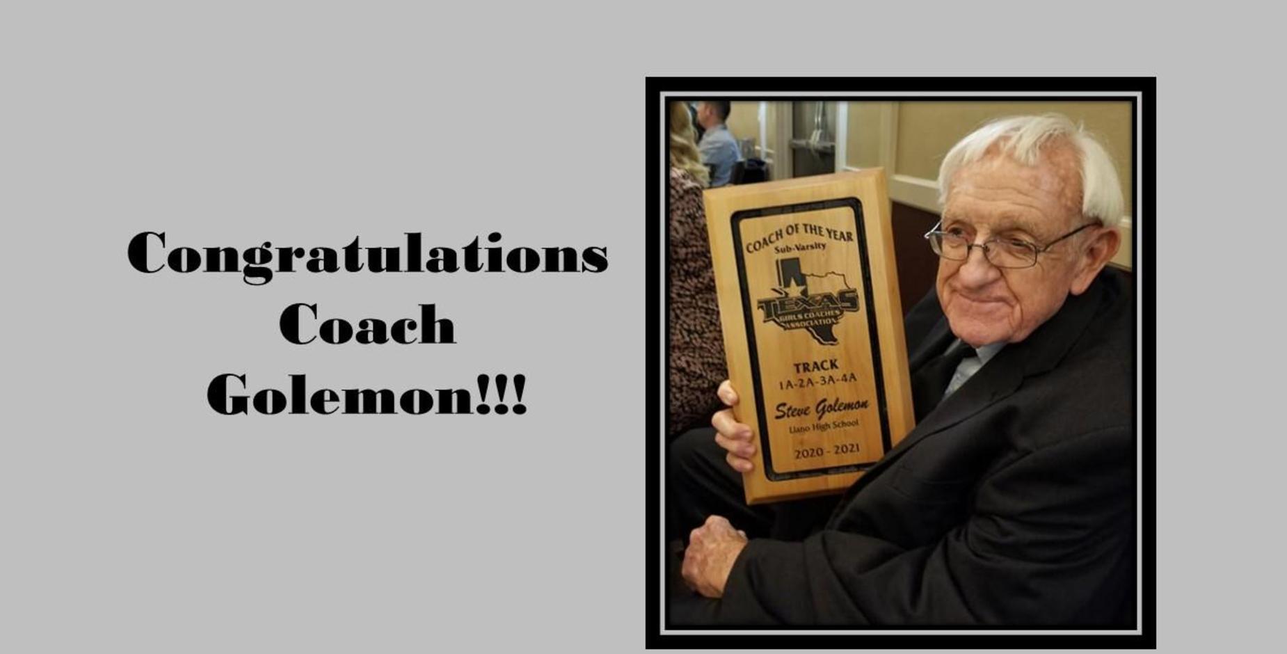 Congrats Coach Golemon