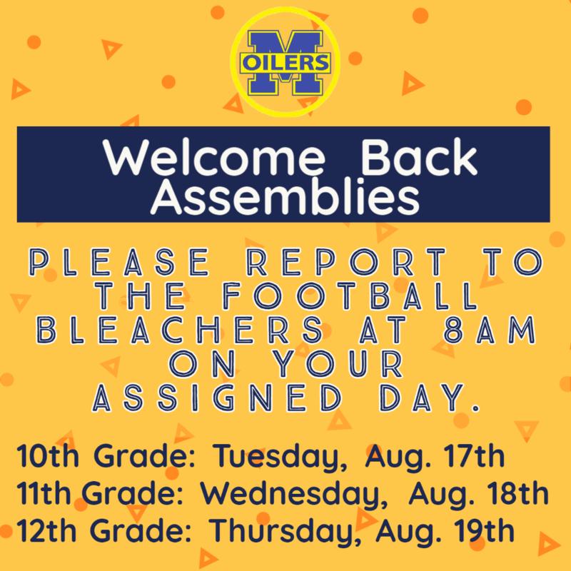 Welcome Back Assemblies