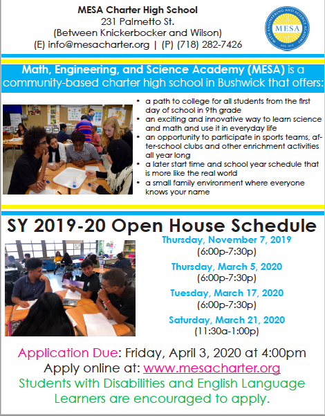 Open House Flyer - English