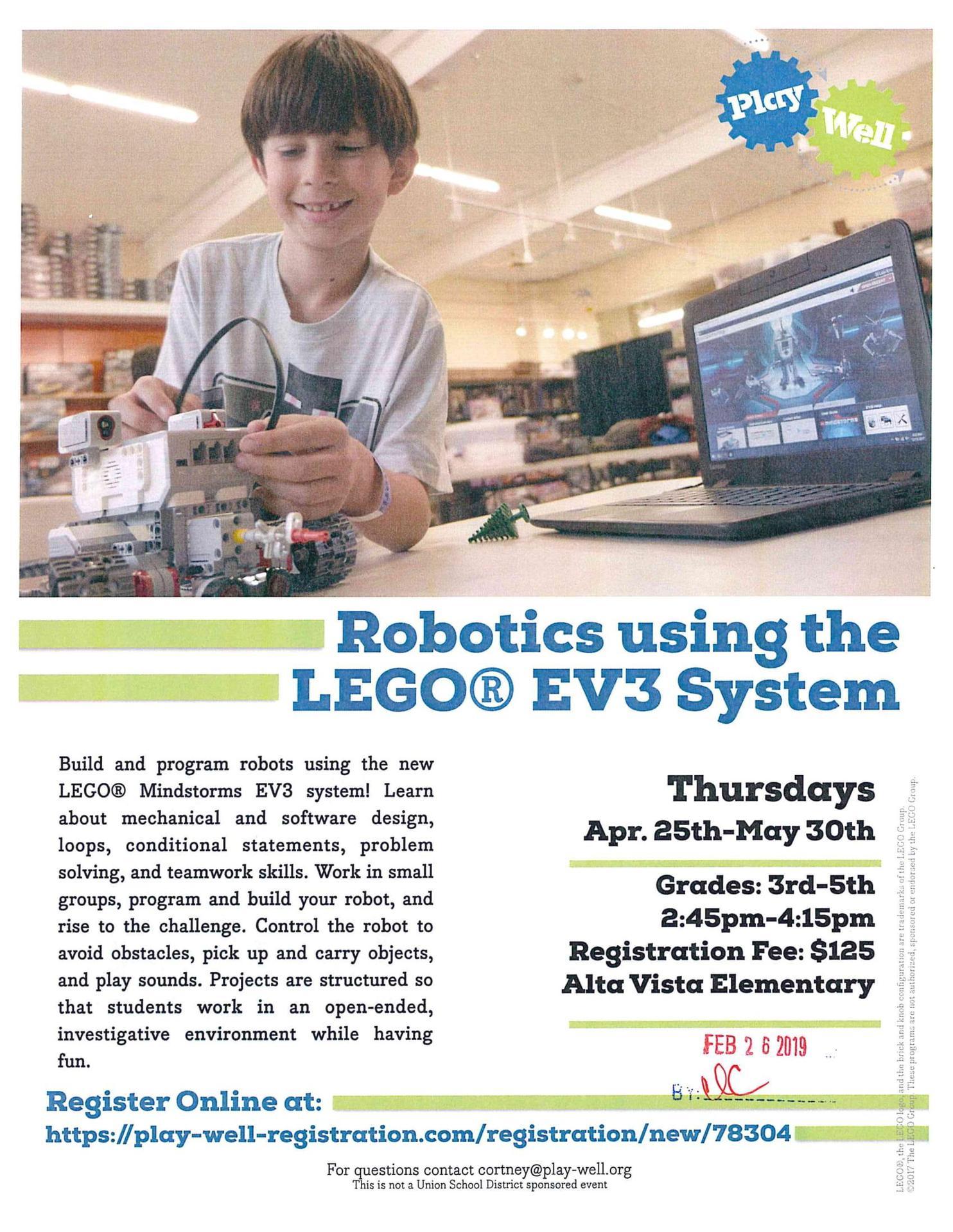 Robotics using the LEGO EV3 System