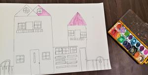 Daly's 2nd grade ART students paint Victorian Architecture projects (5).jpg