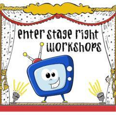 Logo for Enter Stage Right workshop of animated TV