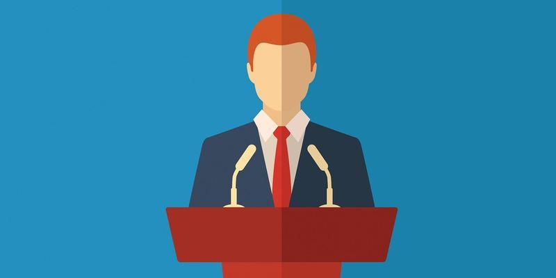 A man standing behind a podium