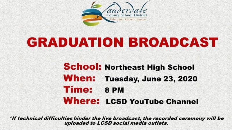 NEHS Graduation Broadcast Graphic